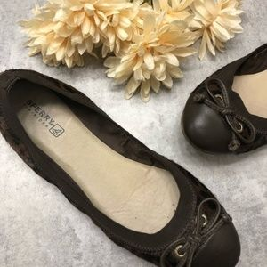 Sperry Brown Calf Hair Ballet Flats Size 8.5